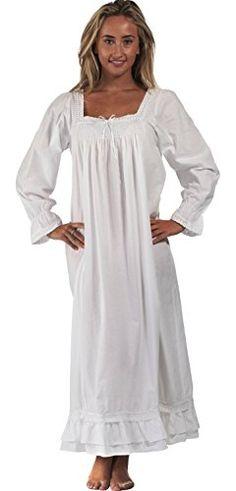 O 1 para U Martha Nightgown Algodão Estilo vitoriano - Tamanhos XS - - pin White Nightgown, White Dress, Cotton Gowns, Night Dress For Women, Thing 1, Nightgowns For Women, Elegant Woman, Beautiful Gowns, Victorian Fashion