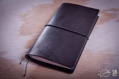 Personalized Leather Journal Midori Traveler's Notebook 'Night river' - Planner Cover - FauxDori