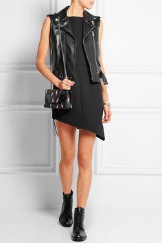 Saint Laurent | Emmanuelle small leather-trimmed jacquard shoulder ...