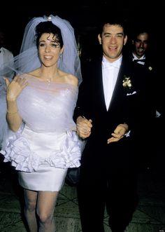 100 Memorable Celebrity Wedding Moments - Tom Hanks & Rita Wilson from Celebrity Wedding Photos, Celebrity Wedding Dresses, Celebrity Couples, Celebrity Weddings, Hollywood Couples, Hollywood Wedding, Tom Hanks, Star Wedding, 1980s Wedding