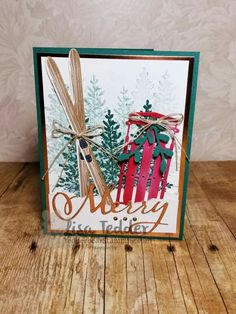 Christmas Card Alpine Adventure with Lovely as a Tree - Let me help you find your creative side! Christmas Cards 2018, Homemade Christmas Cards, Stampin Up Christmas, Noel Christmas, Xmas Cards, Homemade Cards, Handmade Christmas, Holiday Cards, Christmas Crafts