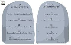 Ten Commandments Mural Sunday School Rooms, Sunday School Classroom, Kids Church Rooms, Kids Room, Wall Mural Decals, Bullet Journal Banner, Ten Commandments, Names Of God