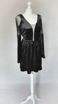 Sukienka z aksamitnego weluru- Megan - MatMari - Sukienki z dzianiny