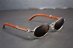 842cda88f3af Auth Cartier C Decor Bubinga Wood Gray Lens Metal Sunglasses 145 53 22   Cartier