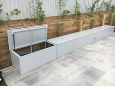 Our Storage Boxes are constructed the same as our Pool Blanket Boxes, we use a fully welded internal frame that can be made to any shape or size. Pool Float Storage, Pool Toy Storage, Outdoor Storage Boxes, Toy Storage Boxes, Bench With Storage, Toy Boxes, Deck Storage, Backyard Toys, Backyard Storage