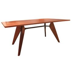 Jean Prouve Demountable Dining Table, Jean Prouve Ateliers, 1950 | From a unique collection of antique and modern tables at https://www.1stdibs.com/furniture/tables/tables/
