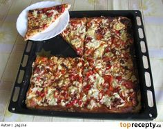 Pizza jako z pizzerie No Salt Recipes, Cooking Recipes, Healthy Recipes, A Food, Food And Drink, Sweet And Salty, Superfoods, Macaroni And Cheese, Pasta
