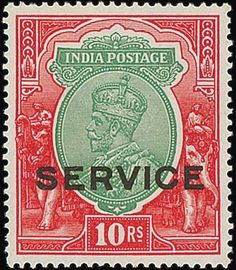 Spink UK / Important Stamps of India - / Official Stamps / Lot Official Stamps Issue Commonwealth, Scarlet, Indie, Mad, Coins, Stamps, The Past, Auction, British
