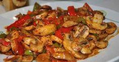 Acı Soslu Mantarlı Tavuk Malzemeler Bonfile tavuk Mantar Yeşil biber Kırmızı acı biber Sarımsak rendesi Pul biber (bir tutam) Tatlı biber toz (bir tutam) Kimyon (bir tutam) Domates suyu (miktarı istege bağlı) Salça (bir tatlı kasıgı istege baglı) Tuz (istege baglı mıktarı) Karabiber (bir tutam) Fesleğen Soslu Makarna Knorr Fesleğenlii sos Barilla Lınguıne