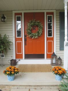 Love the color combo for the door & shutters.