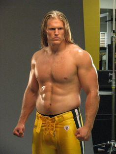 Clay Matthews Muscle & Fitness cover shoot- untouched (much better than the retouched photo).