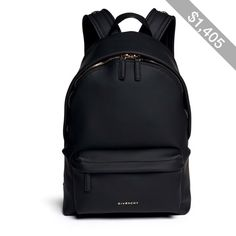 Givenchy Rubberised leather backpack