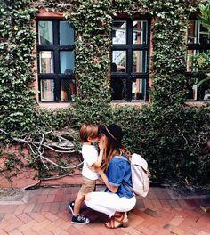@erickalhooper in Santa Barbara with her Hastings backpack diaper bag.