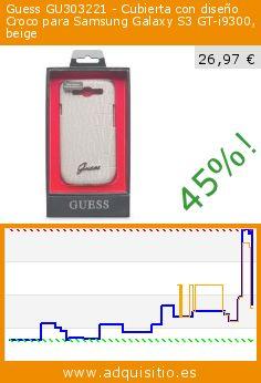 Guess GU303221 - Cubierta con diseño Croco para Samsung Galaxy S3 GT-i9300, beige (Accesorio). Baja 45%! Precio actual 26,97 €, el precio anterior fue de 49,44 €. http://www.adquisitio.es/guess/guct001-carcasa-samsung