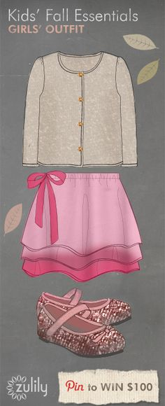 My grand-daughter is going to look beautiful this Fall in this amazing Zulily outfit!  #zulily #Fall