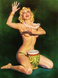 """""""Bongo-Bongo"""" by Al Brule. 1940's."""
