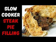 In this video, I make a slow cooker steak pie filling that is both chunky and tender. The rich gravy helps takes this pie filling to a whole new level. Multi Cooker Recipes, Slow Cooker Recipes, Crockpot Recipes, Cooking Recipes, Slow Cooking, Pie Recipes, Yummy Recipes, Dinner Recipes, Healthy Recipes