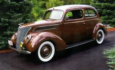 Dean's first car 1937 Ford 2 door Deluxe Sedan Mine was Yellow