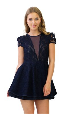 Jones and Jones Kasia Navy Lace Dress £65.00