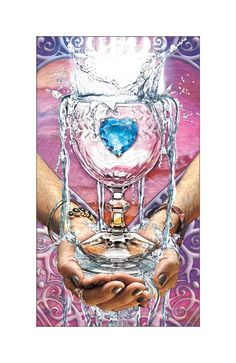 Ace of Cups -Gentry Smith Tarot - If you love Tarot, visit me at www.WhiteRabbitTarot.com