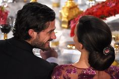 Prince Carl couldn't hide his love for Sofia while dining at the Nobel Prize Banquet in December 2014.