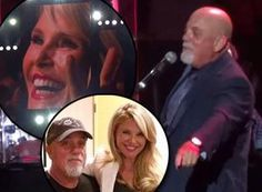 Billy Joel sings 'Uptown Girl' to his former wife Christie Brinkley at a concert at Madison Square Garden on August 7, 2014.
