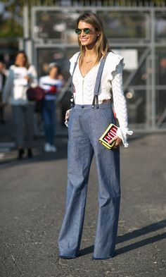 Dungarees done street style.
