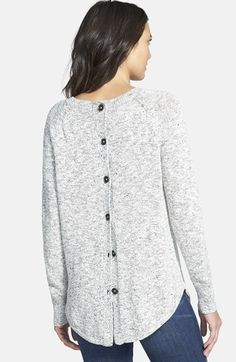Madewell Marled Button Back Sweater | Nordstrom