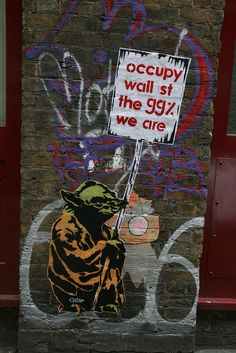 Occupy Wall St, the 99% we are -   Yoda / Star Wars street art