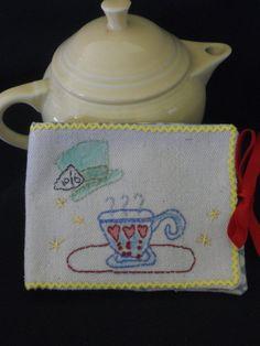 Alice in Wonderland tea keeper tea bag keeper by GuineveresFolly, $10.00