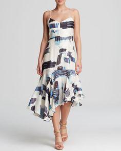 Tibi Dress - Oki Abstract Print
