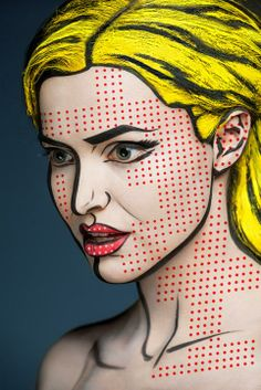 """This is 3D, not 2D / A new project from photographer Alexander Khokhlov is prompting doubletakes and pushing portraiture in a new direction. The Moscow-based artist's latest series, dubbed """"2D or not 2D,"""" uses heavy makeup and post-production techniques to transform human faces into seemingly two-dimensional images."""