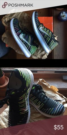 Nike Free Flyknit shoes These were sold to someone already who sent them back because I had them listed as a seven. I originally sold them because I felt they were too big- an honest oversight on my part. They are in fact a size 8. Nike Shoes Athletic Shoes