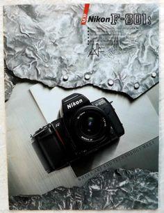 Nikon F-801s Camera Brochure Vintage Color Photography