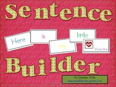 Sentence Builders-Valentines Day FREE