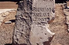 """Pontius Pilate inscription from Caesarea. Pontius Pilate was prefect of the Roman-controlled province of Judaea from 26–36 AD. The stone is significant because it is the only universally accepted[not in citation given] archaeological find with an inscription mentioning the name """"Pontius Pilatus"""" to date. News Unlimited. Gospel."""