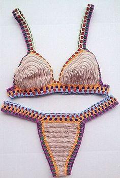 Biquíni Crochet Kiini Nude - Crocheteria Handmade