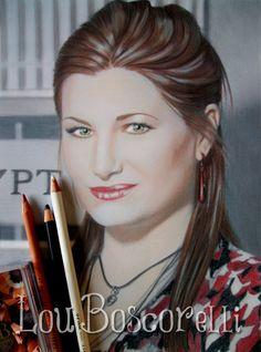 Kathryn Hahn Portrait Lily Lebowsky -Crossing Jordan- Mixed Media by Lou Boscorelli 2013 Crossing Jordan, Kathryn Hahn, Jordans, Lily, Hair Accessories, Portrait, Tv, Grief, Boston