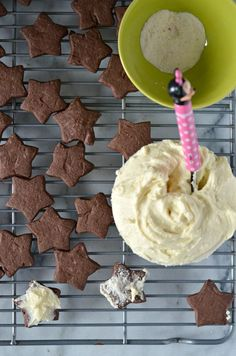 chocolate cookies with cream cheese frosting kids in the kitchen, kid friendly recipes mini chef mondays