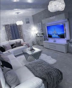 Dog spaces in house Dream house ideas Glam Living Room, Living Room Goals, Living Room Decor Cozy, Silver Living Room, Cozy Living, Living Rooms, Room Ideas Bedroom, Bedroom Decor, Cozy Bedroom