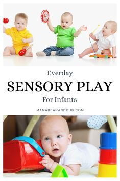 Need cheap and easy sensory play ideas for you newborn or infant? These activities are great for everyday play and bonding time with parents and baby. Baby Sensory Play, Sensory Activities, Infant Activities, Activities For Kids, Baby Play Areas, Newborn Essentials, Baby Images, Baby Necessities, Play Ideas
