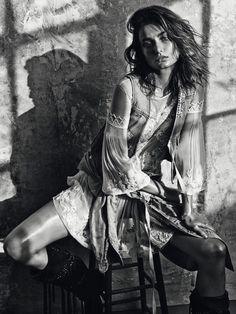 Emmanuelle Alt. Foto de Mario Sorrenti.