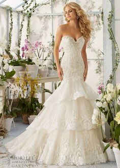 #Beautiful Tiered Strapless Moonstone Beading Mermaid Bridal Gown [Mori Lee 2810] - $296.00 : Prom Dresses 2015,Wedding Dresses & Gowns On Sale,Buy Homecoming Dresses From Ailsadress.com