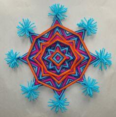 Mardi Gras  Ojo de Dios  Mandala hilo por HighDesertAlchemy en Etsy