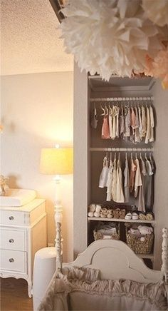 Open closet could turn into book shelves later