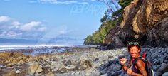 Pura vida y vivir viajando con mochila. Punta Banco. Río Coco. Costa Rica.