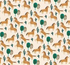 wild west horses | repeating pattern | print | pony | ponies