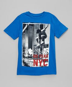 Royal Blue 'No Fear NYC' Tee - Boys by NO FEAR #zulily #zulilyfinds