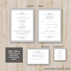 Wedding Thank You Template - Wedding Card Template, Wedding Thank ...