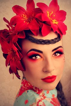 RED Stunning Eye Makeup pics  #fashion #style #beauty #eyes #makeup #cosmetics #glitter #eyeliner #eyeshadow #color #lashes #trend #bright #bold #smokey #rock #goth #pinup #glam